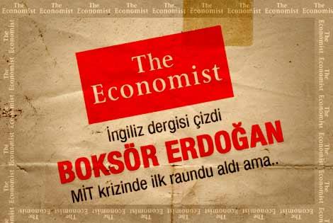 İngiliz dergisi çizdi: Boksör Erdoğan