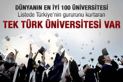 En iyi 100'e giren tek Türk üniversitesi
