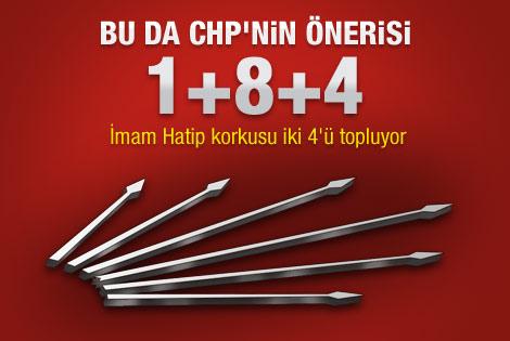 CHP'nin eğitim sistemi teklifi: 1+8+4