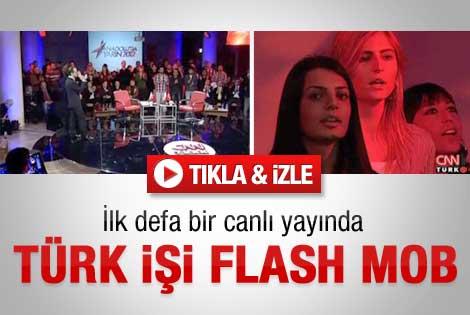Canlı yayında ilk flash mob herkesi şaşırttı - Video
