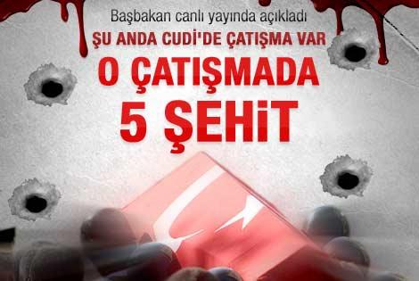 Şırnak'ta çatışma 4 şehit