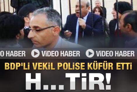 Hasip Kaplan polise hakaret etti