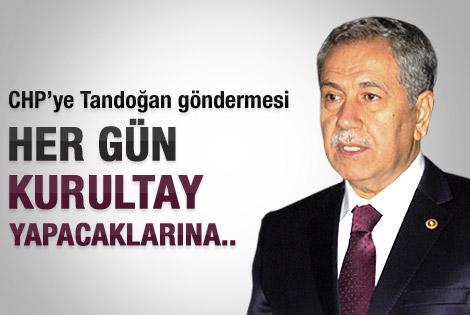Arınç'tan CHP'ye Tandoğan göndermesi