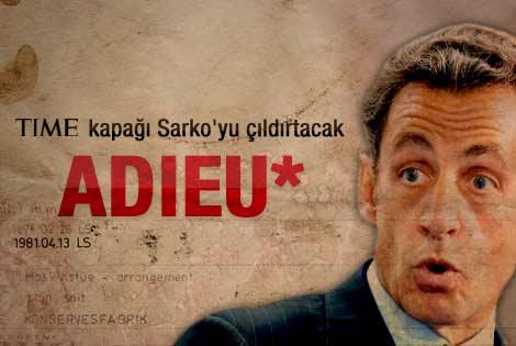 Sarkozy Time dergisine kapak oldu