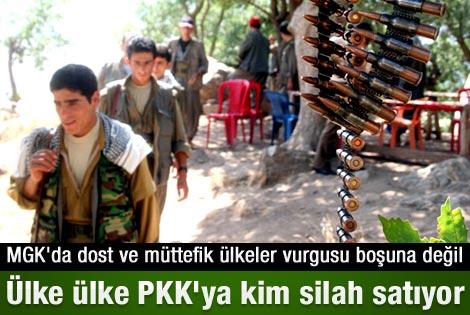 PKK'ya silah satan ülkeler