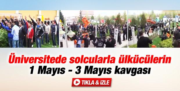 Eskişehir Osmangazi Üniversitesi'nde kavga