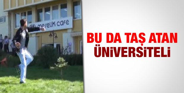 Eskişehir Üniversitesi'nde gruplar arasında taşlı saldırı