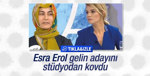 Gelin adayı Esra Erol'u kızdırdı