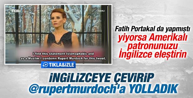 Esra Erol patronu Murdoch'ı eleştirdi İZLE