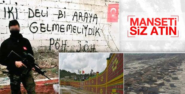 Lice'de PKK mezarlığı yıkıldı