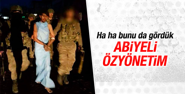 Abiyesiyle yakalanan PKK'lı