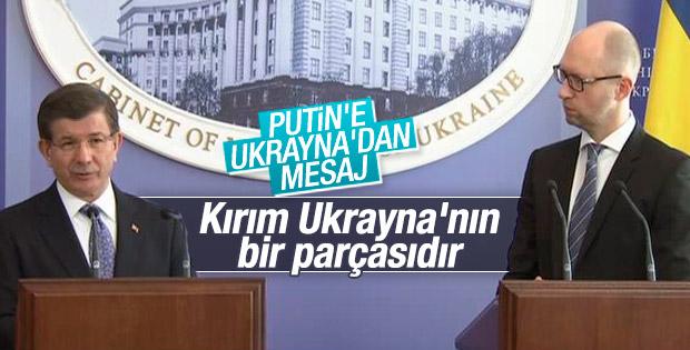 Davutoğlu Ukrayna'dan Putin'e mesaj gönderdi