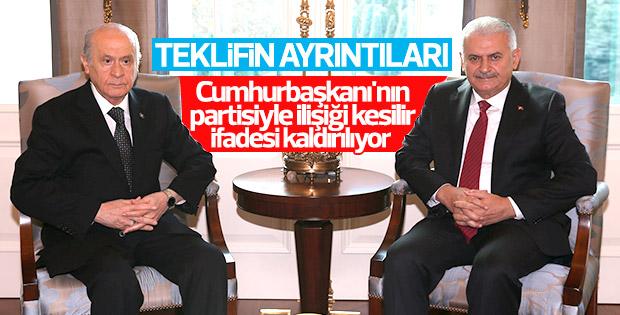 MHP'ye gönderilen Anayasa taslak metninin detayları