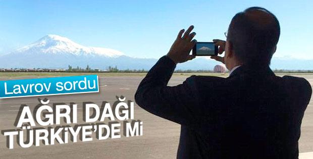 Lavrov Ağrı Dağı'nın fotoğrafını çekti
