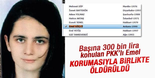 Başına 300 bin lira konan terörist öldürüldü