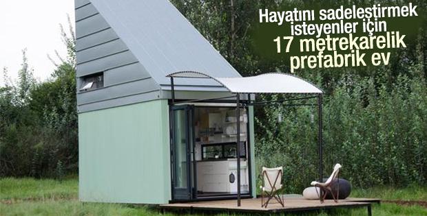 17 metrekare alanlı taşınabilir ev