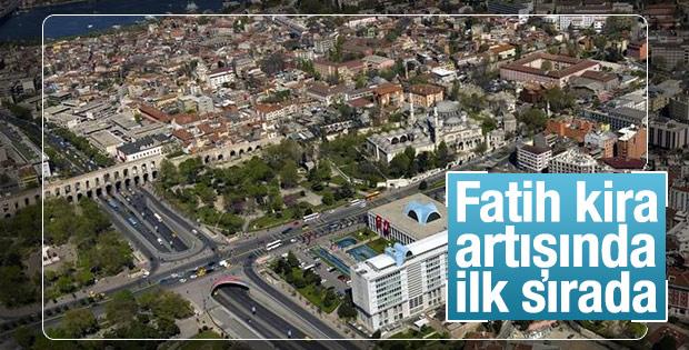 İstanbul'da kira fiyatları en çok Fatih'te arttı