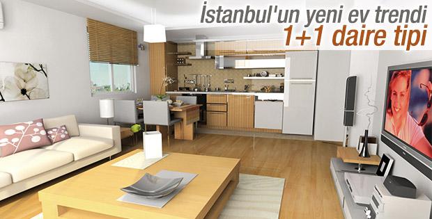 İstanbul'un yeni ev trendi 1+1 daireler