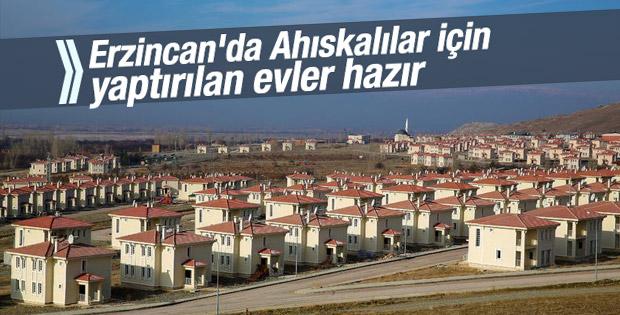Ahıskalı ailelerin Erzincan'daki evleri hazır