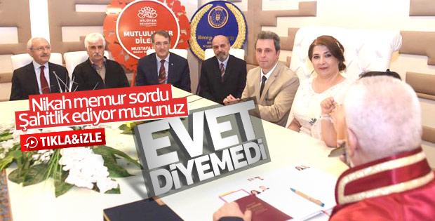 Kemal Kılıçdaroğlu nikah şahidi oldu 'evet' diyemedi