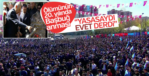 Devlet Bahçeli Alparslan Türkeş'i andı