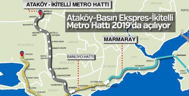 Ataköy- İkitelli Metro Hattı'nın açılış tarihi belli oldu