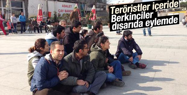 Adliye önünde silahlı Berkin Elvan eylemine destek
