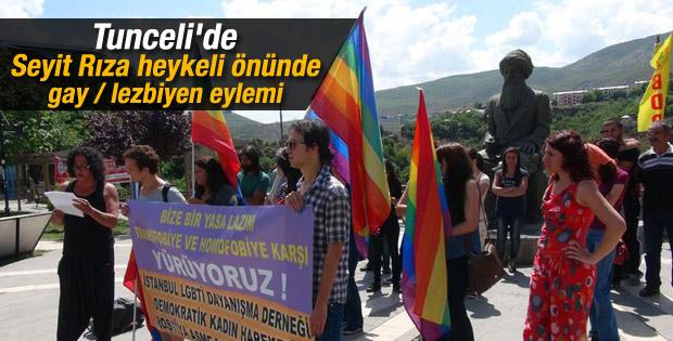 LGBTİ üyeleri Tunceli'de yürüdü