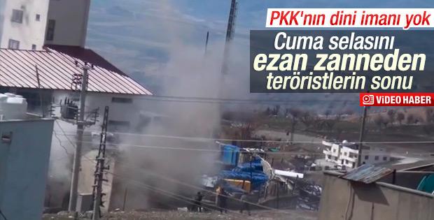Ezanla selayı karıştıran PKK'lıların planı bozuldu