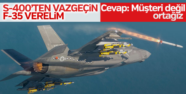 ABD Heyeti'ne F-35 için 'ortağız' karşılığı verildi