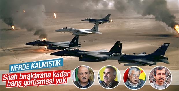 PKK'ya karşı hava harekatı düzenlendi