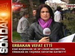 Erbakan'ın evinde canlı yayın gafı