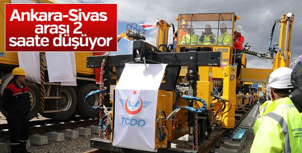Ankara- Sivas ilk ray serim töreni yapıldı