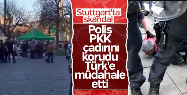 Alman polisinden PKK'lıları protesto eden Türk'e gözaltı