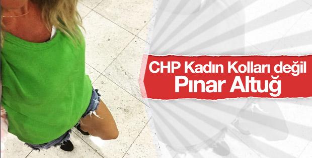 Pınar Altuğ'dan şortlu protesto
