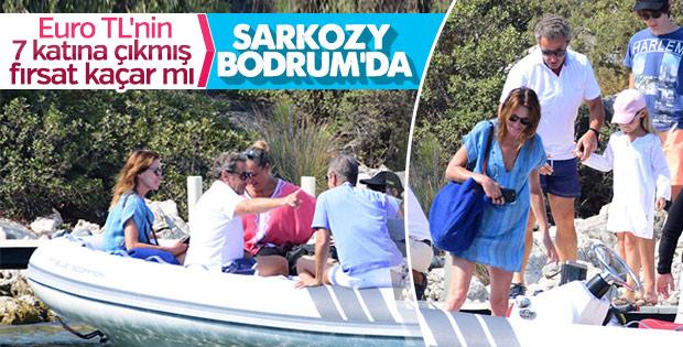 Sarkozy eşiyle birlikte Bodrum'da tatil yaptı