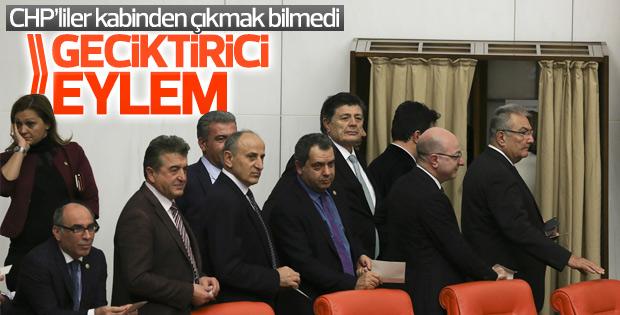 CHP'den Meclis'te yavaşlatma eylemi