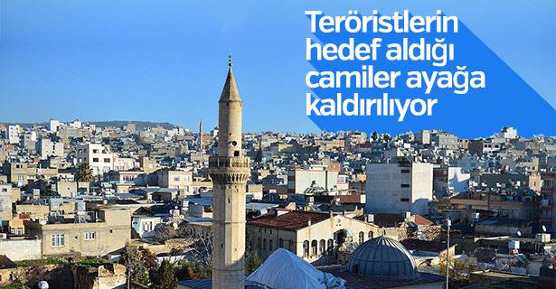Teröristlerin hedef aldığı camiler ayağa kaldırılıyor