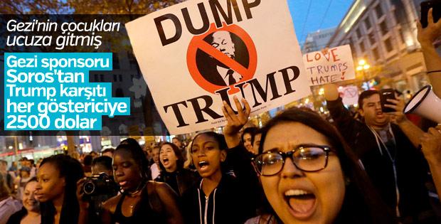 Trump karşıtı protestolara katılanlara 2500 dolar