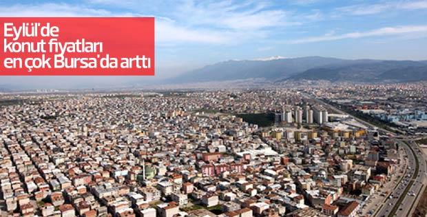 Eylül'de konut fiyatları en çok Bursa'da arttı