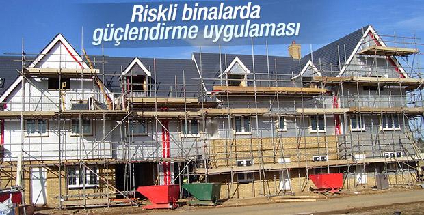 Riskli binalarda güçlendirme uygulaması