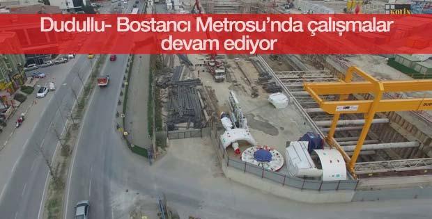 Dudullu- Bostancı Metrosu'nda çalışmalar devam ediyor