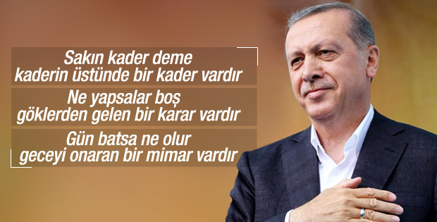 Erdoğan'dan Sezai Karakoç şiiri