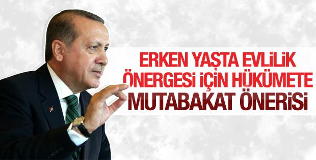 Erdoğan erken yaşta evlilik önergesiyle ilgili konuştu