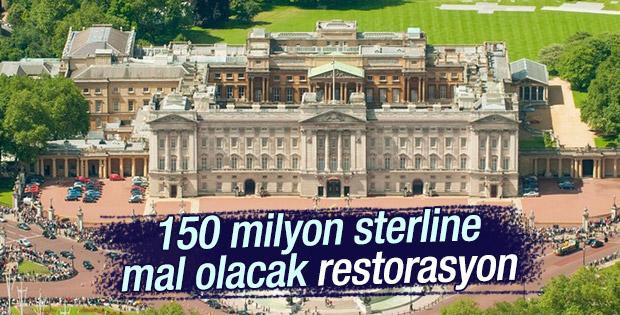 Buckingham Sarayı 150 milyon sterline restore ediliyor