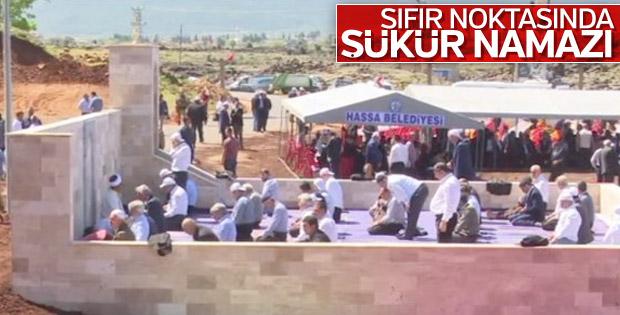 Hassa'da inşa edilen namazgah açıldı