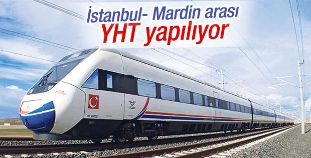 İstanbul - Mardin arası YHT yapılıyor