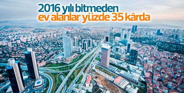 Ev alanlar yüzde 35 kârda