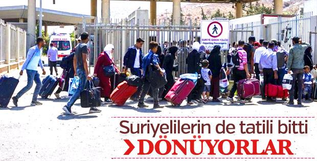 Suriyelilerin bayram dönüşü başladı