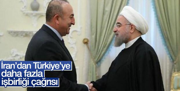 Ruhani'den Çavuşoğlu'na işbirliği çağrısı